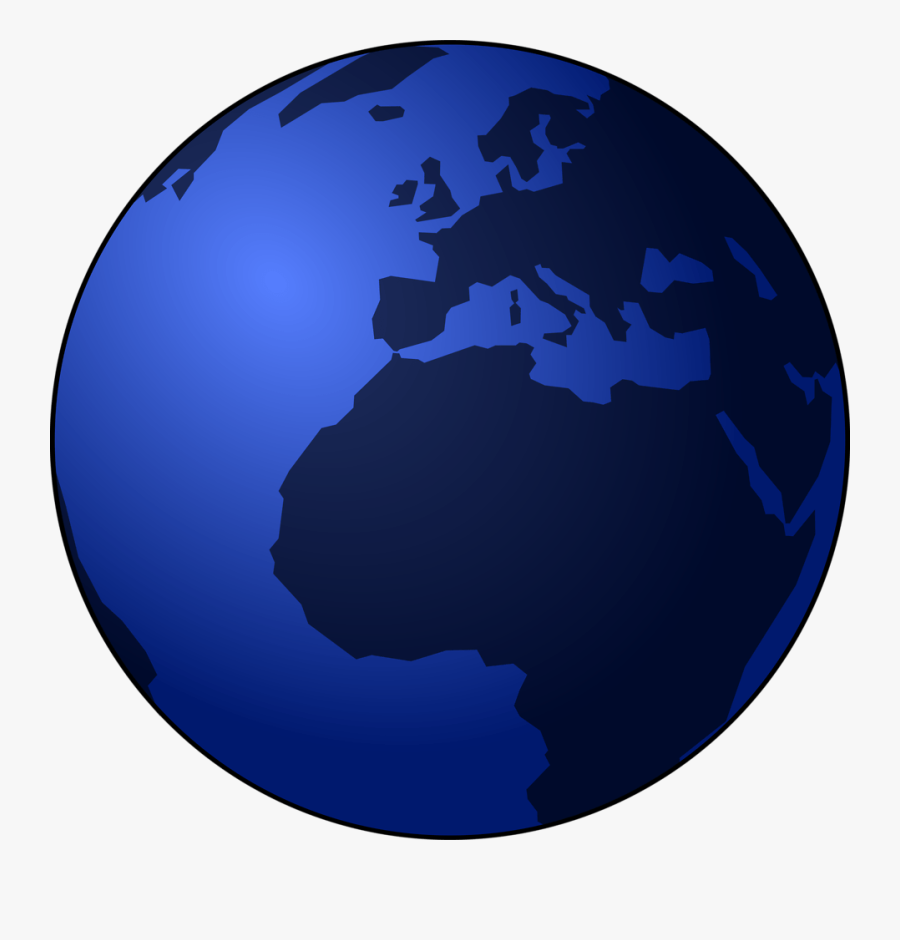 Planet Clipart Animated Globe - Earth Vector Black Png, Transparent Clipart