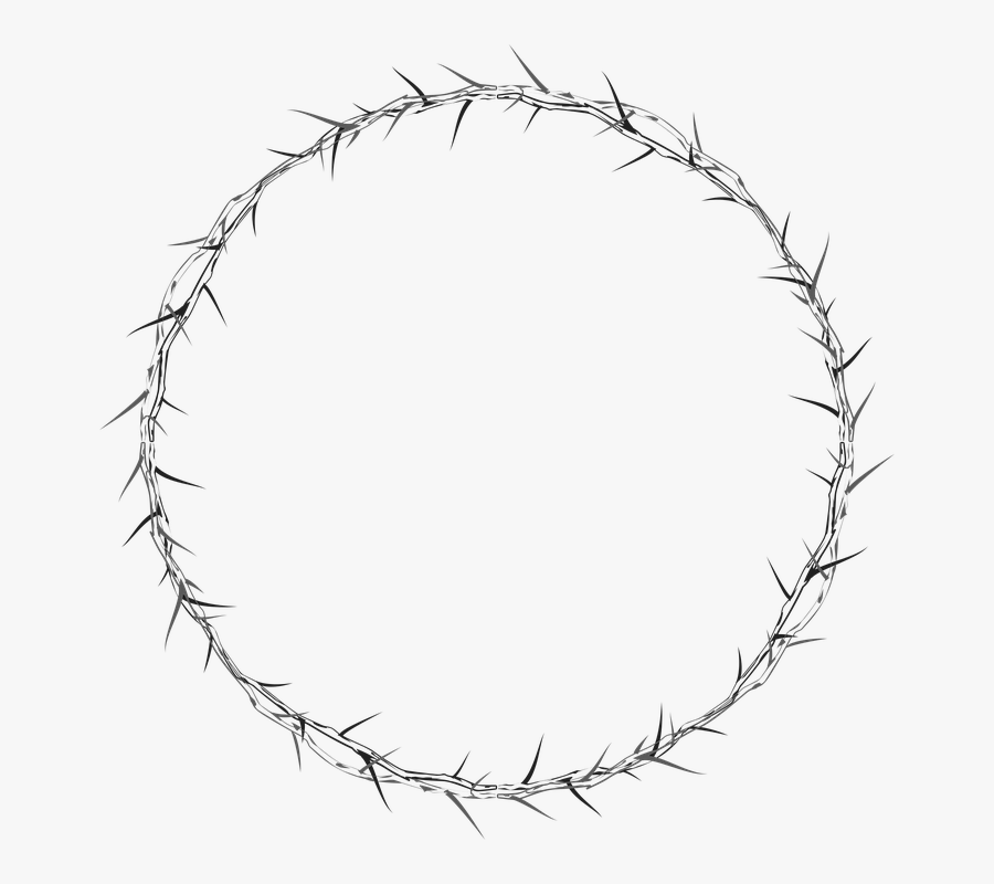 Crown Of Thorns, Circle, Frame, Border, Abstract, Art - Drawn Crown Of Thorns Png, Transparent Clipart