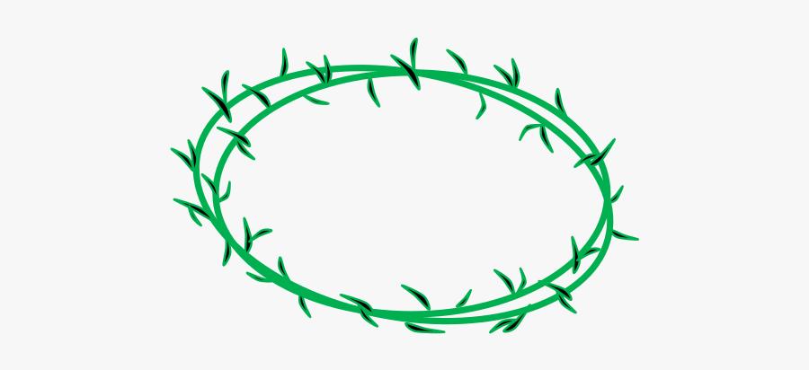 Line Art,leaf,area - Transparent Png Crown Of Thorn, Transparent Clipart