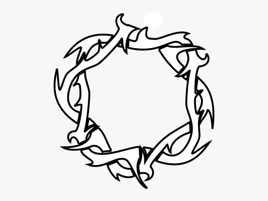 Thorn Crown Outlines, Transparent Clipart