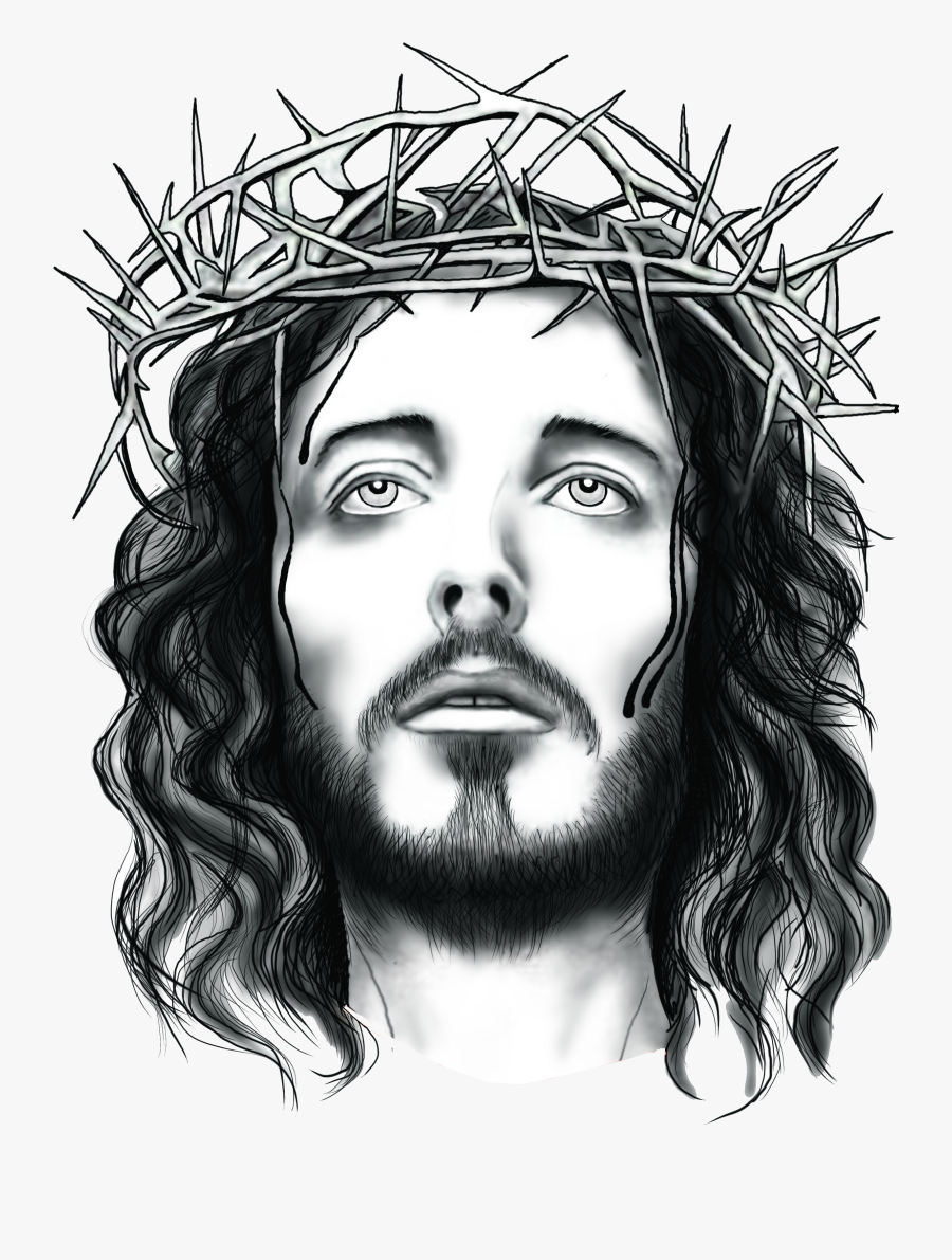 Clip Art Jesus With Picture Freeuse - Jesus Face With Thorns, Transparent Clipart