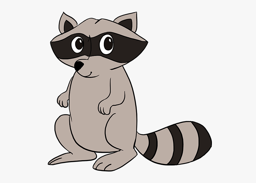 Clip Art Raccoon Face Drawing - Step By Step Raccoon Easy Drawing, Transparent Clipart