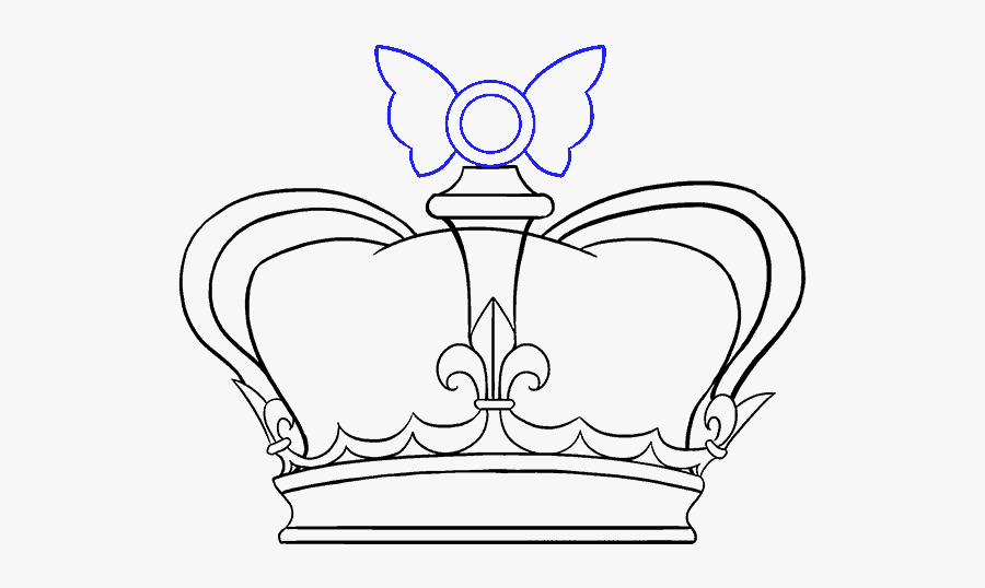 Clip Art How To Draw A Crown Of Thorns - Draw A Queen Crown, Transparent Clipart