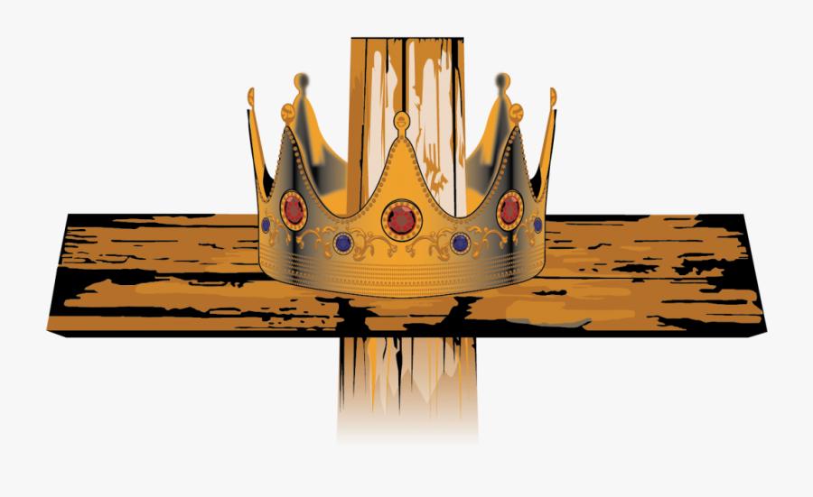 Portfolio Cross Crown Logo - Coroa Do Rei Jesus, Transparent Clipart
