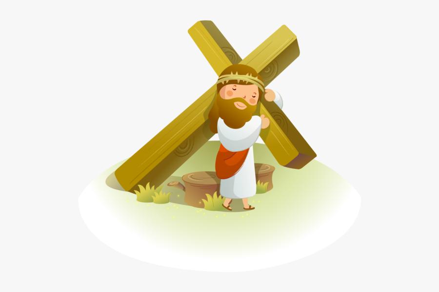 Resurrected Of Crown Cross Jesus Vector Thorns - Imagenes De Jesus En La Cruz Animado, Transparent Clipart