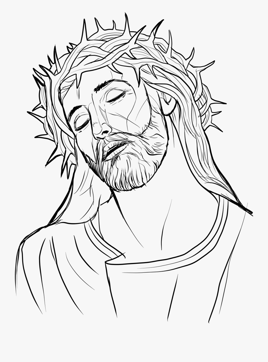 #cross #jesus #christianity #christian #god #symbol - Jesus With Crown Of Thorns Clipart, Transparent Clipart