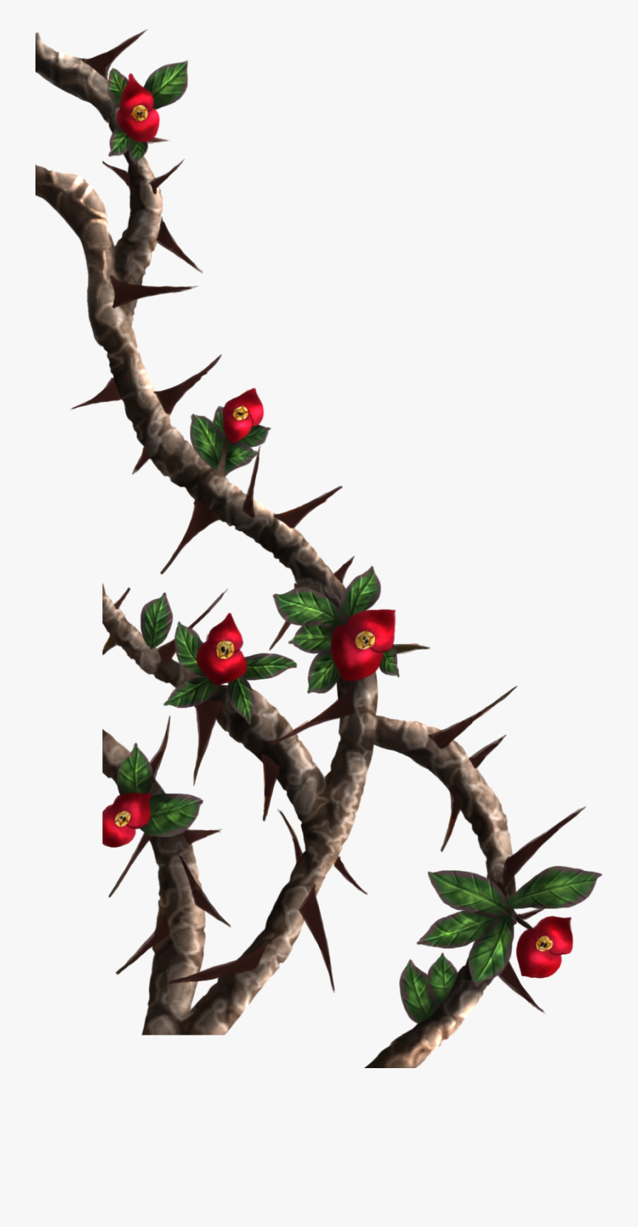 Espinas Thorns Freetoedit - Roses With Thorns Png, Transparent Clipart