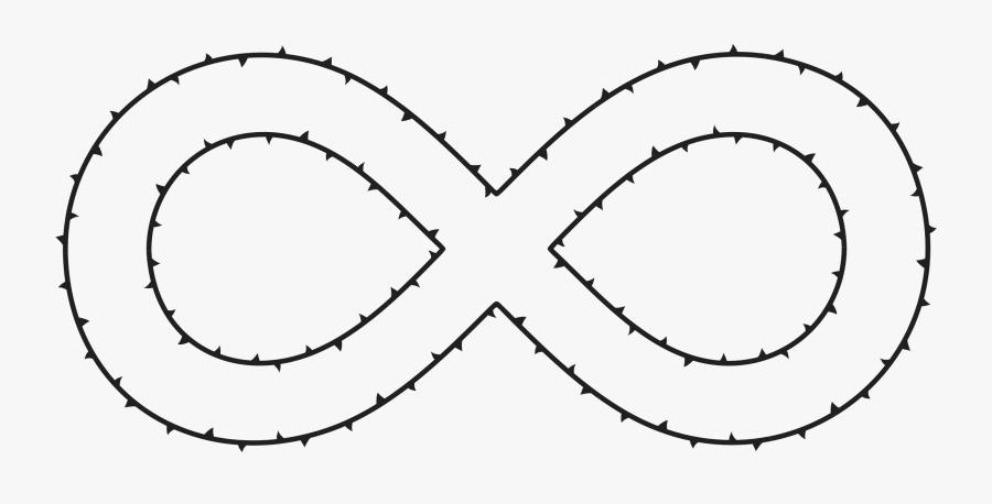 Infinite Thorns Clip Arts - Sonsuzluk Işareti Png, Transparent Clipart