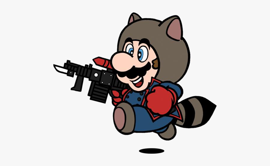 Super Mario Bros - Super Mario Bros 3 Tanooki Mario, Transparent Clipart