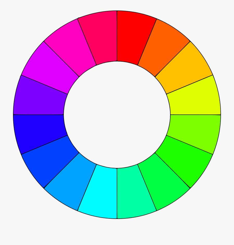 Color Wheel Big Image - Color Wheel 16 Colors, Transparent Clipart