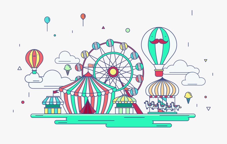 Amusement Park Png - Amusement Park Rides Animated, Transparent Clipart