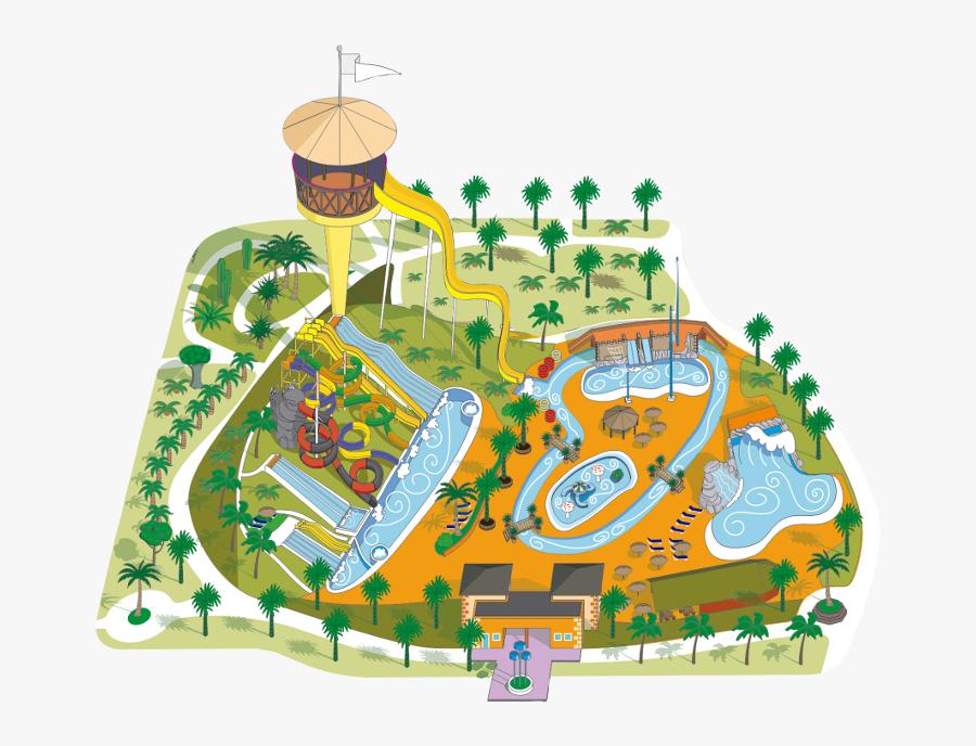 Acua Water Parque Acu - Acua Water Park Map, Transparent Clipart