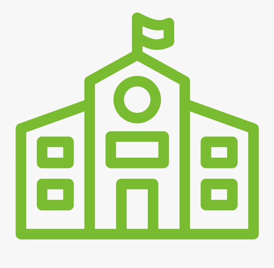 Get Your School On Board - Green School Icon, Transparent Clipart
