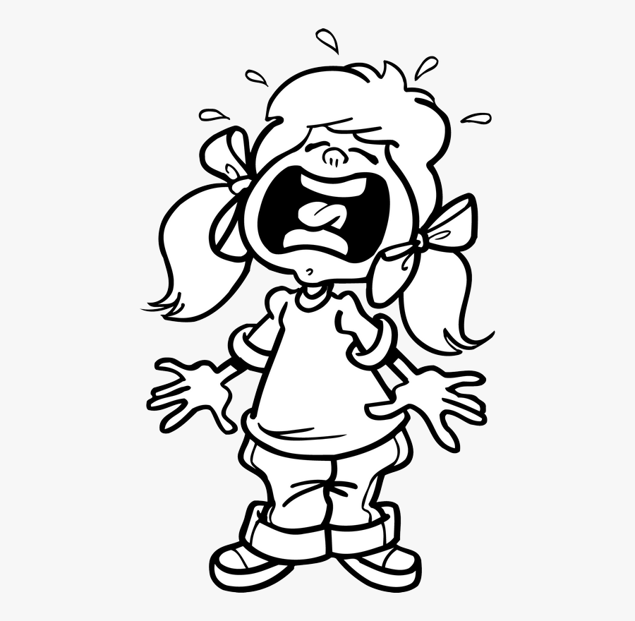 girl cartoon black and white png