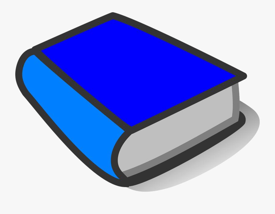 Book, Blue, Bright Blue, Closed, Shut, Thick, Element - Blue Book Clipart, Transparent Clipart