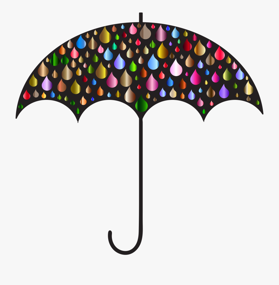 Umbrella Silhouette Clip Art At Getdrawings - Umbrella With Rain Clip Art, Transparent Clipart