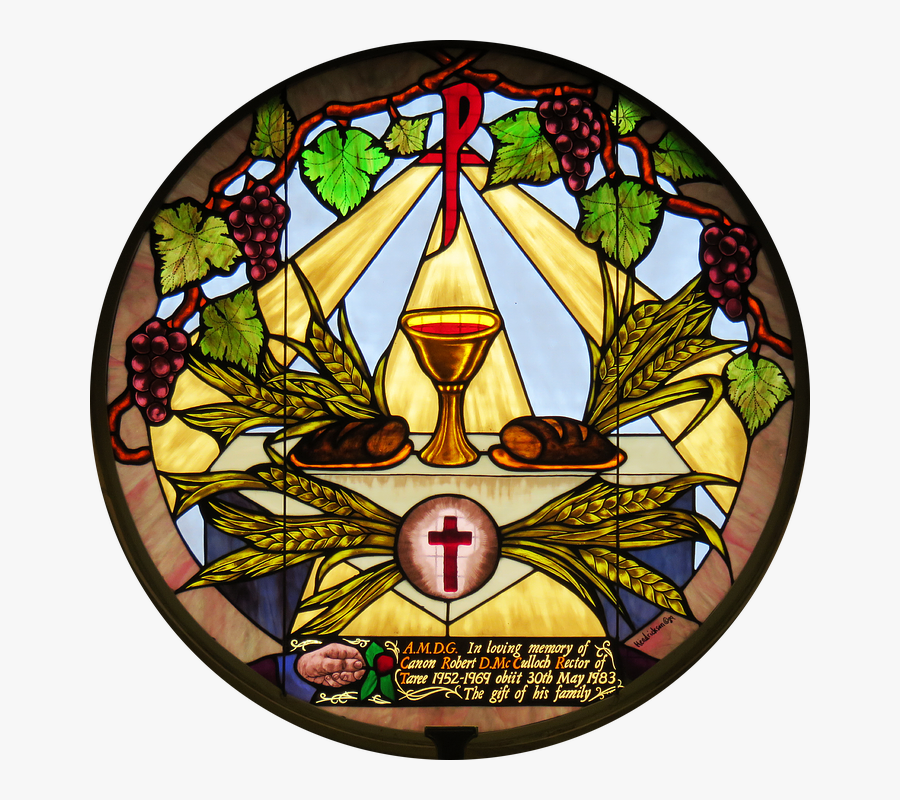 Week Catholic Stained In Holy Eucharist Glass Clipart - Eucharist Stained Glass Window, Transparent Clipart