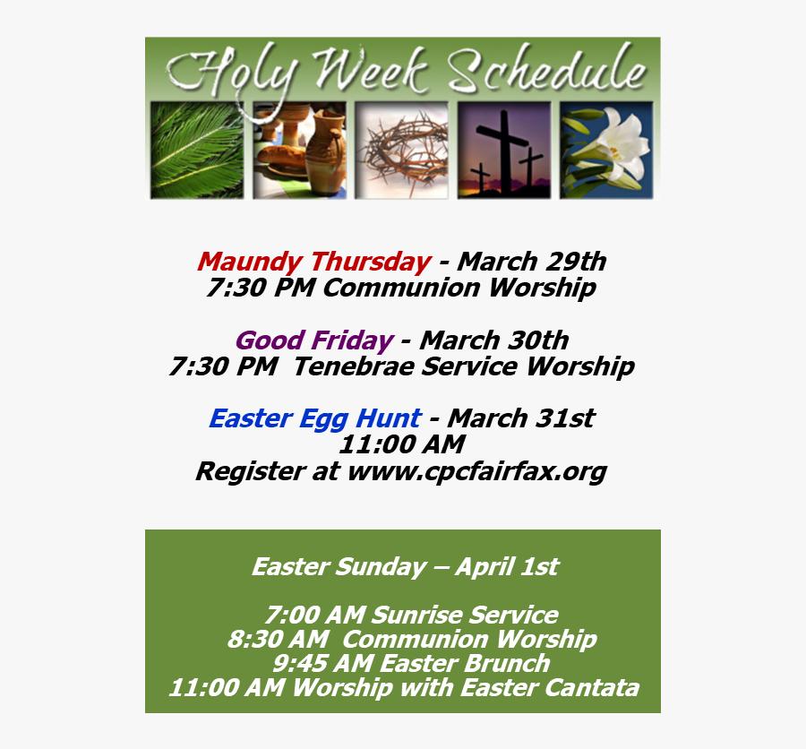 Clip Art List - Holy Week, Transparent Clipart