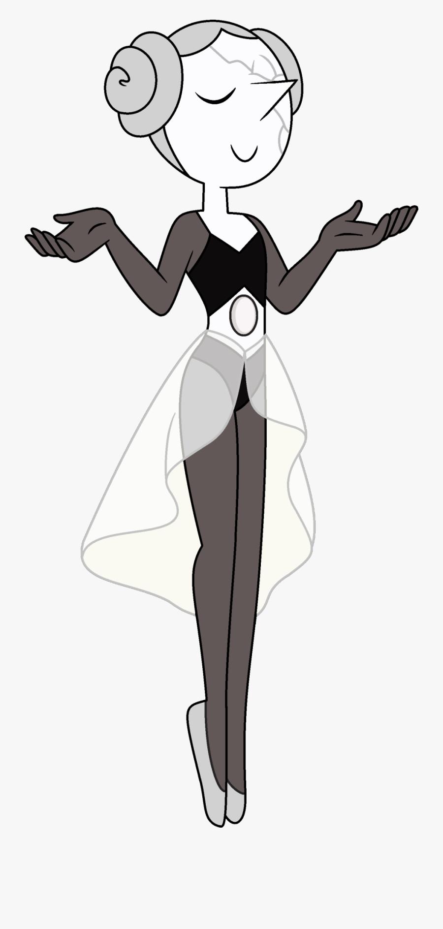 Transparent Penguin Sliding On Belly Clipart - White Diamonds Pearl Steven Universe, Transparent Clipart