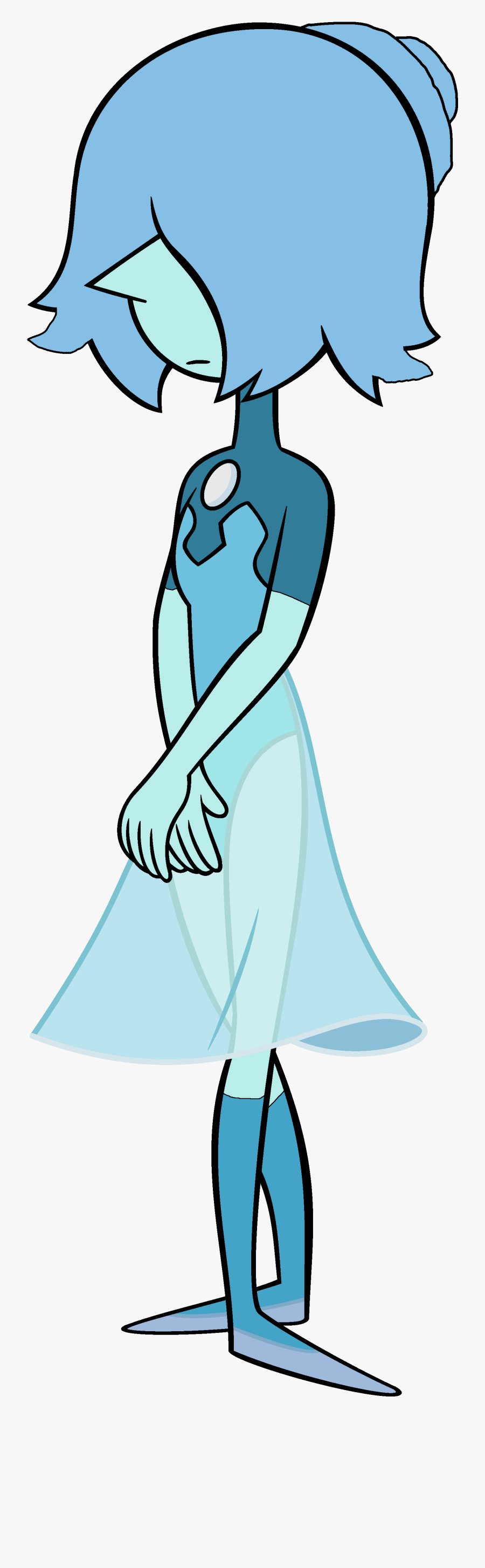 Blue Pearl New Form - Steven Universe Blue Pearl Outfits, Transparent Clipart