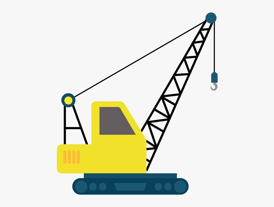 Clip Art Construction Crane - Clip Art Crane Construction, Transparent Clipart