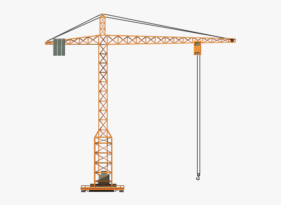 Crane Tower Png - Tower Crane, Transparent Clipart