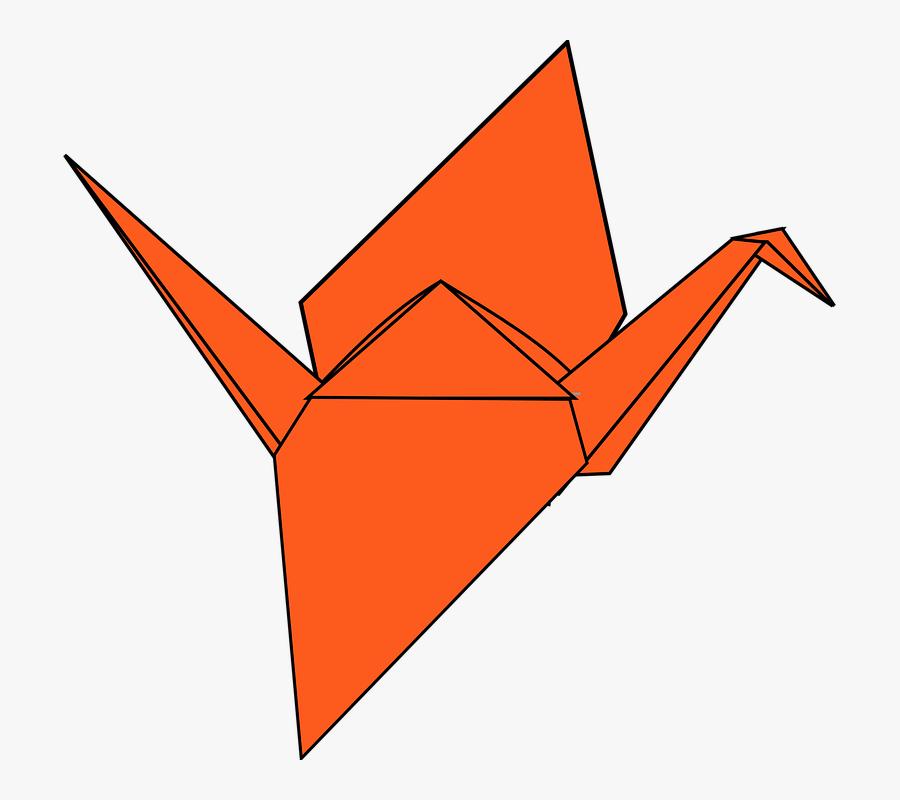 Paper Crane Origami Transparent Background, Transparent Clipart