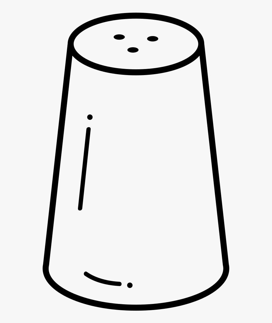 Salt Shaker Coloring Page - Dibujo De Salero Para Colorear, Transparent Clipart