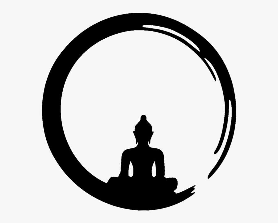 Zen Meditation, Zen Meditation Chan, Meditation Png - Buddha Black And White, Transparent Clipart