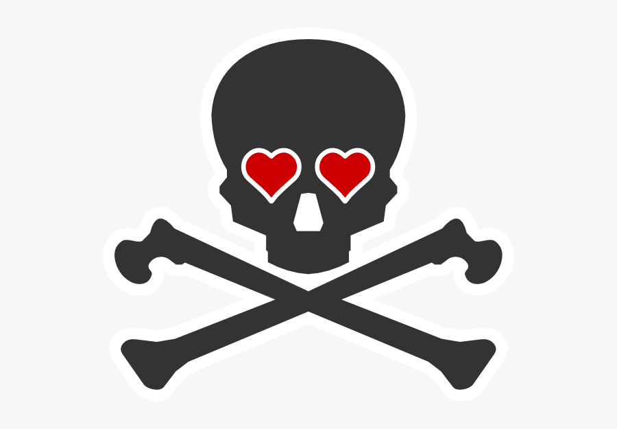 Basic Skull And Crossbones, Transparent Clipart