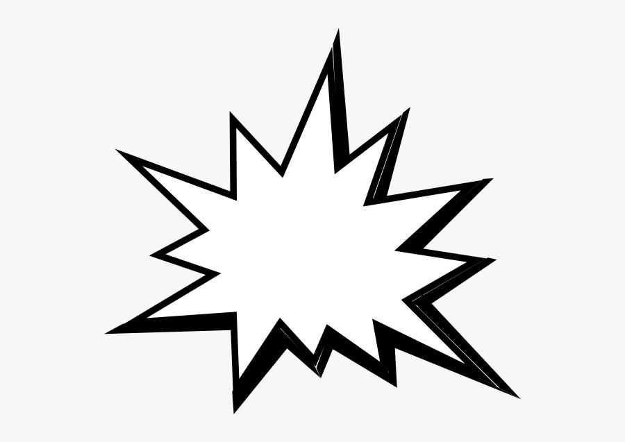 Pow White Clip Art At Clker - Comic Book Pow Bubble, Transparent Clipart