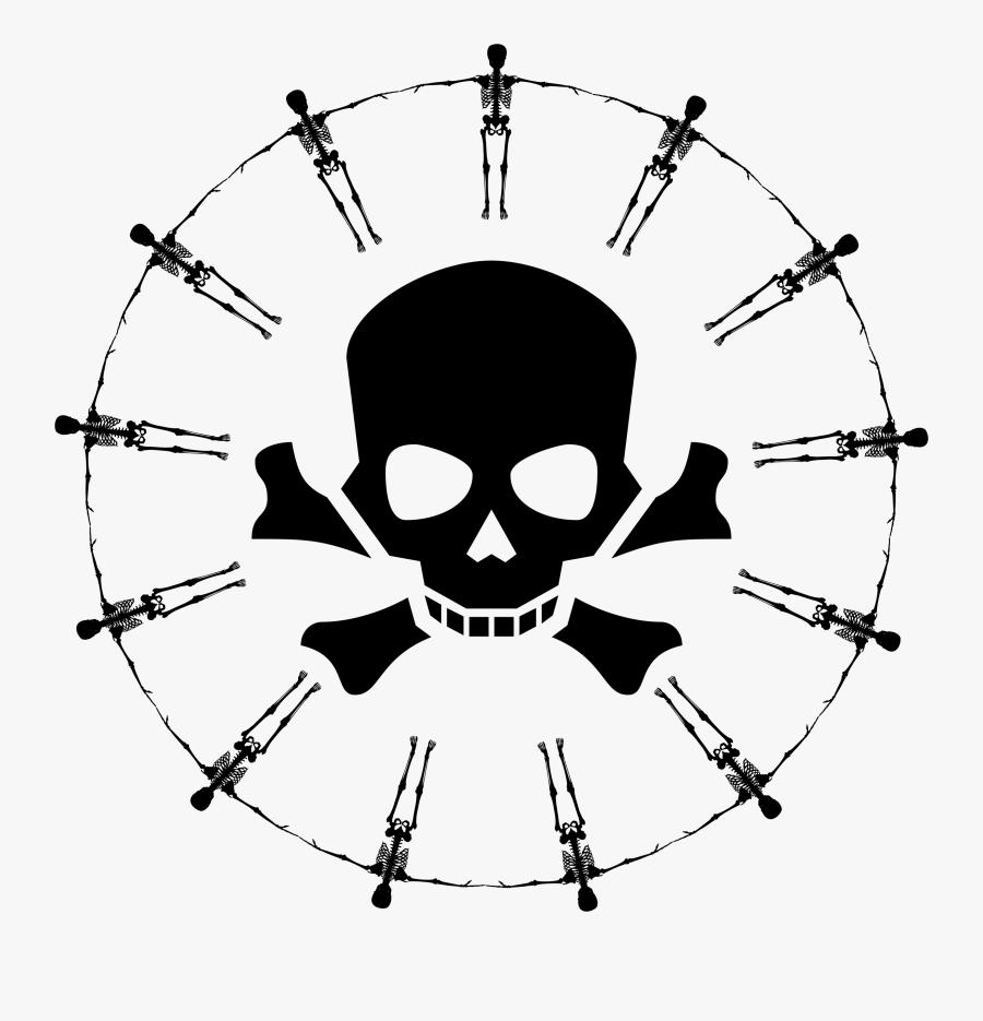 Dead Clipart Crossbones - Skull And Crossbones Favicon, Transparent Clipart