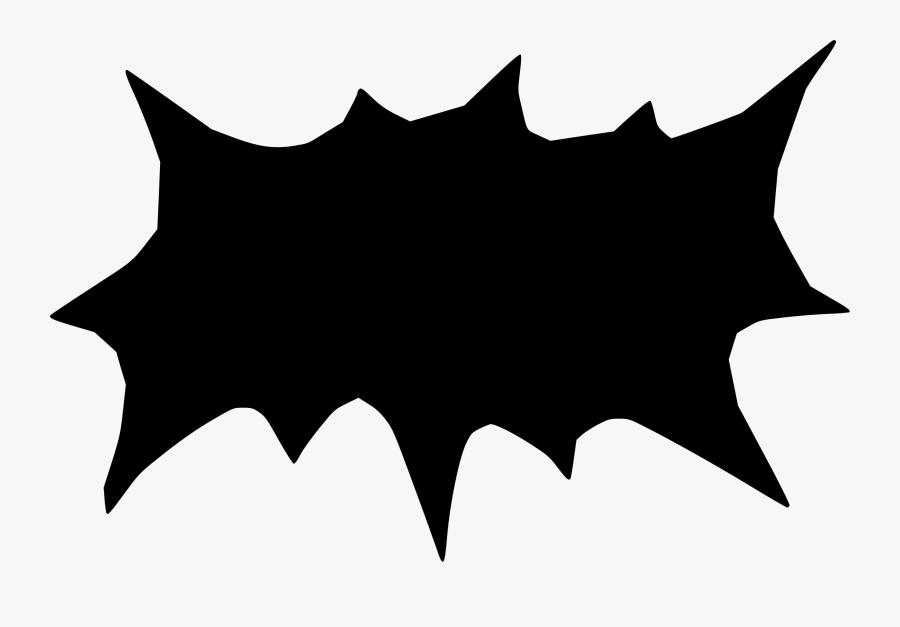 Bat,leaf,symmetry - Speech Balloon For Comics Black, Transparent Clipart