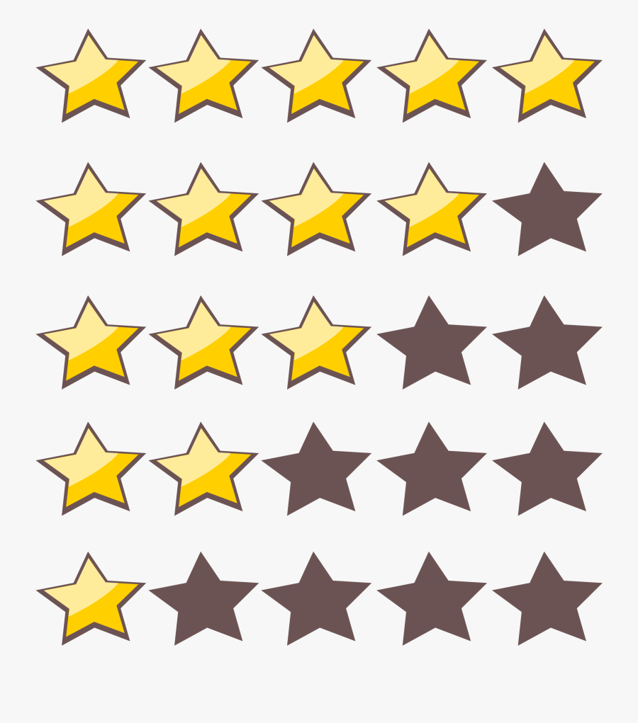 5 Star Rating Clipart - Star Rating Clipart, Transparent Clipart