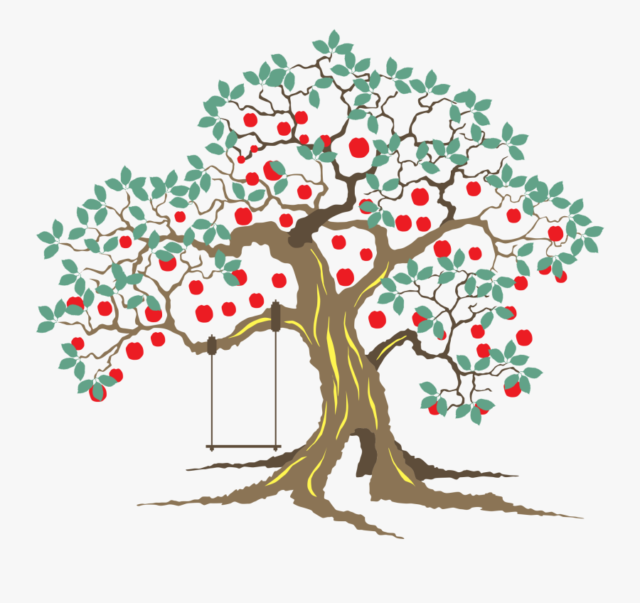 Tree With Roots And Fruit Clipart, Transparent Clipart