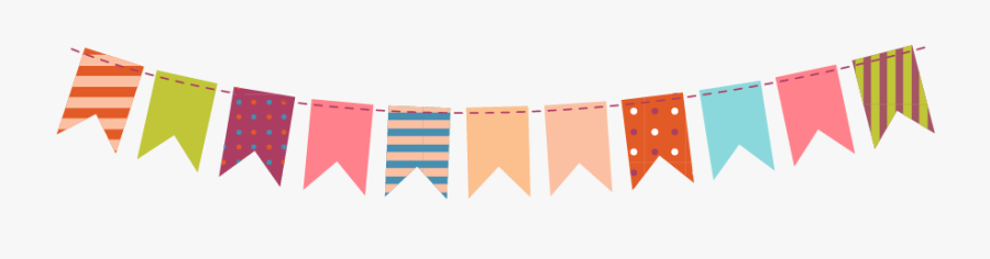 Paper Party Clip Art - Fall Bunting Png, Transparent Clipart