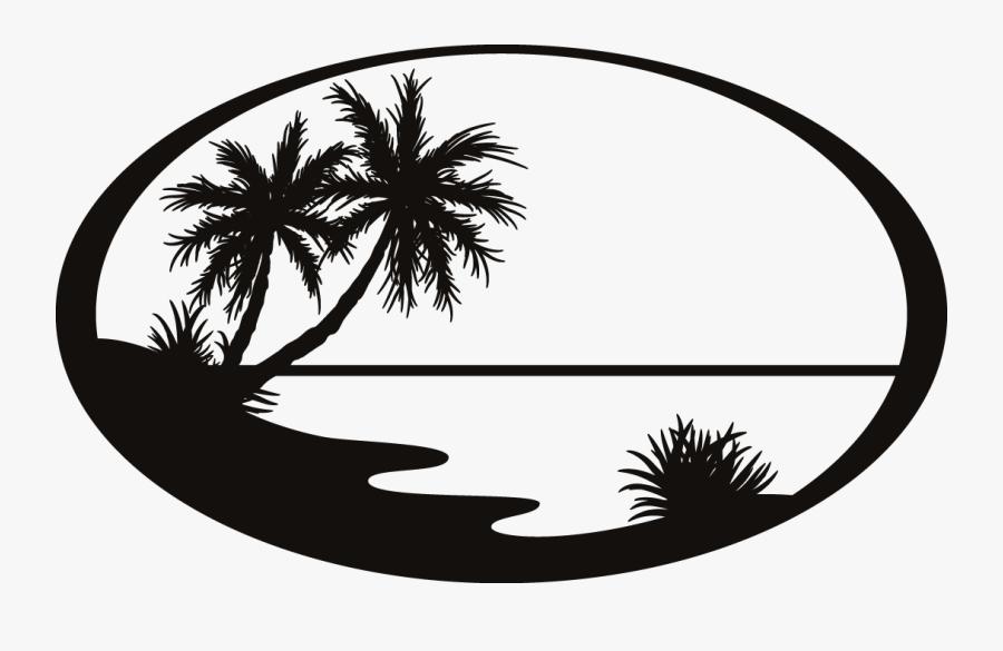 Transparent Silhouette Png - Silhouette Beach Clip Art, Transparent Clipart