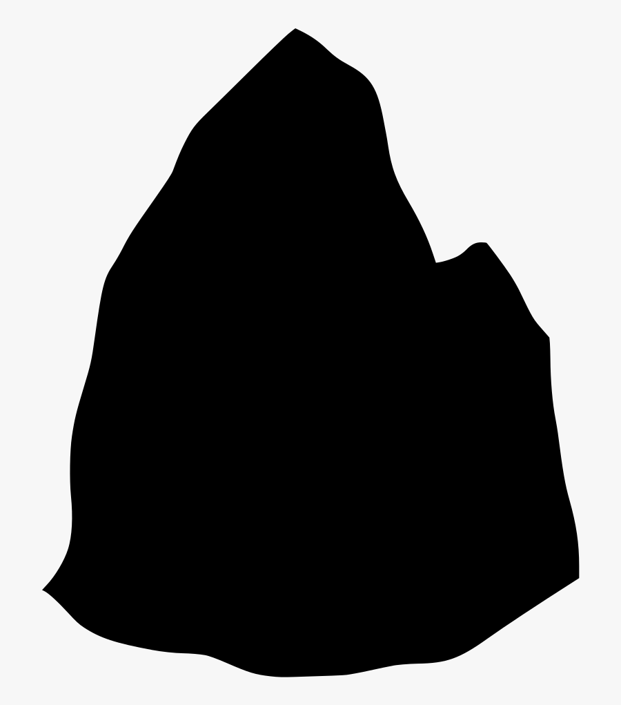 Rock Stone Stone Silhouette Clipart , Png Download - Transparent Rock Silhouette, Transparent Clipart