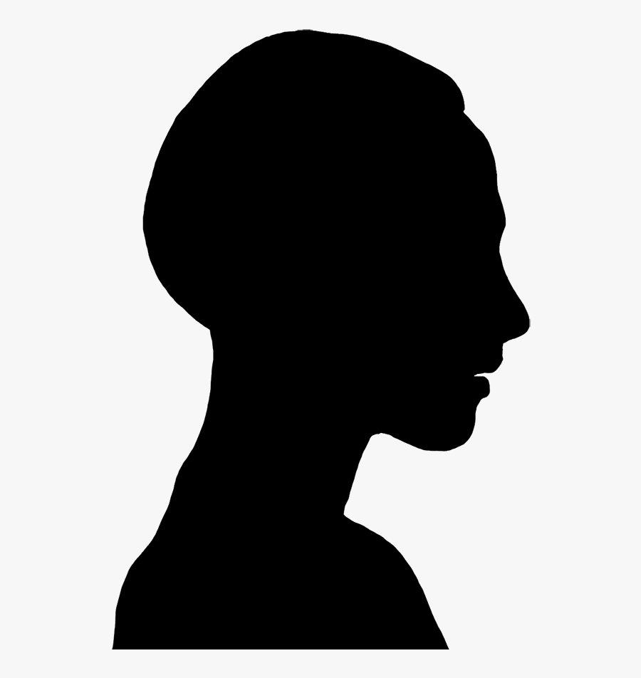 Silhouette Clip Art Of Young Woman - Brain Human Face Silhouette, Transparent Clipart
