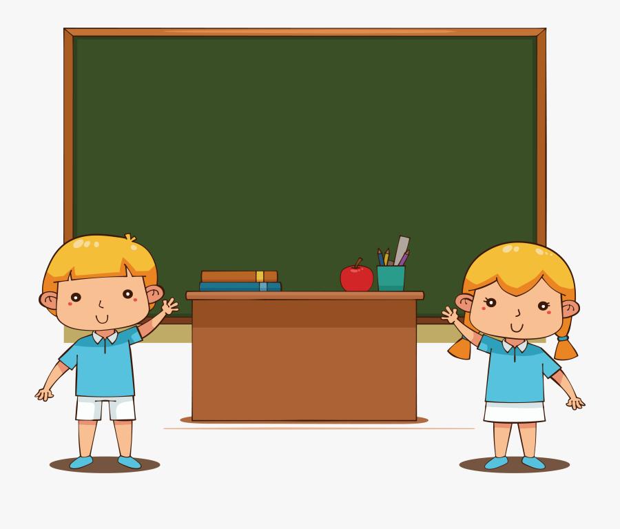 School Euclidean Vector Computer File - School Cartoon Students Png, Transparent Clipart