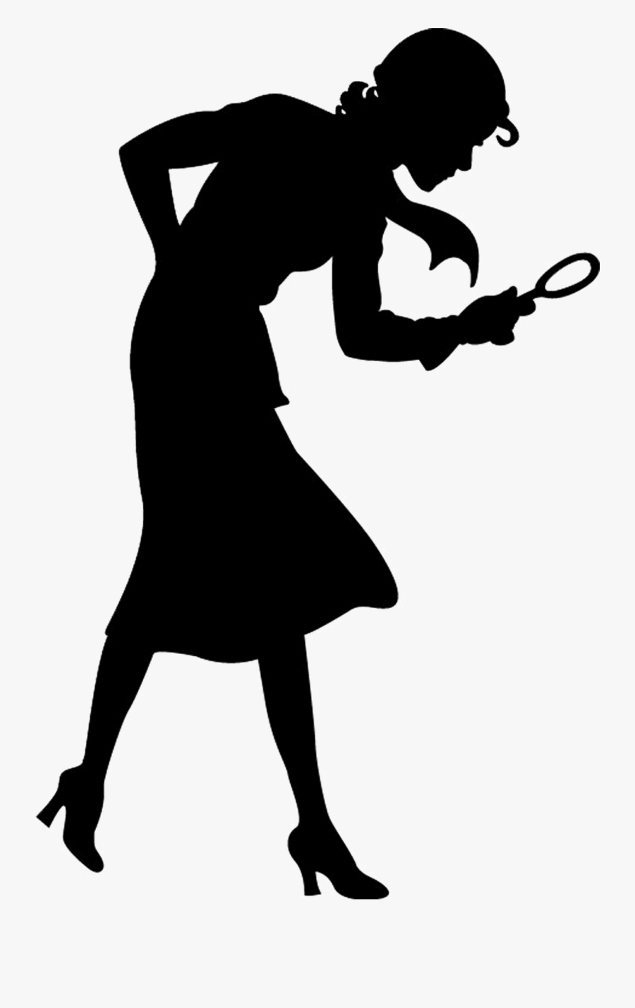 Nancy Drew Silhouette Transparent, Transparent Clipart