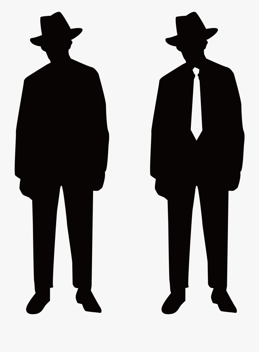 Transparent Fedora Clipart Png - Man With Hat Silhouette Png, Transparent Clipart
