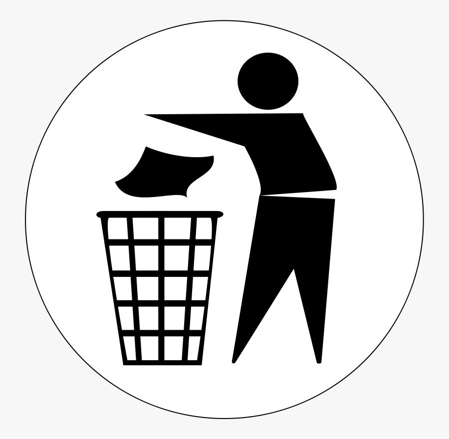 Put Rubbish In Bin Cartoon - Put Your Trash In The Bin, Transparent Clipart