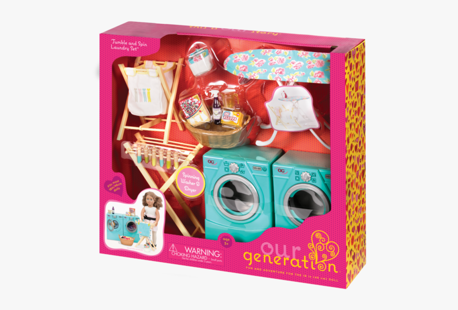Tumble And Spin Laundry Set Package Detail - Our Generation Toys, Transparent Clipart