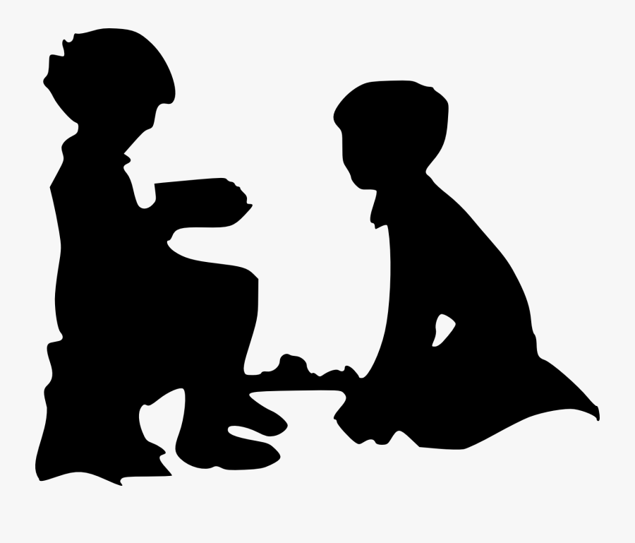 Child Silhouette Clip Art - Act Of Kindness Silhouette, Transparent Clipart