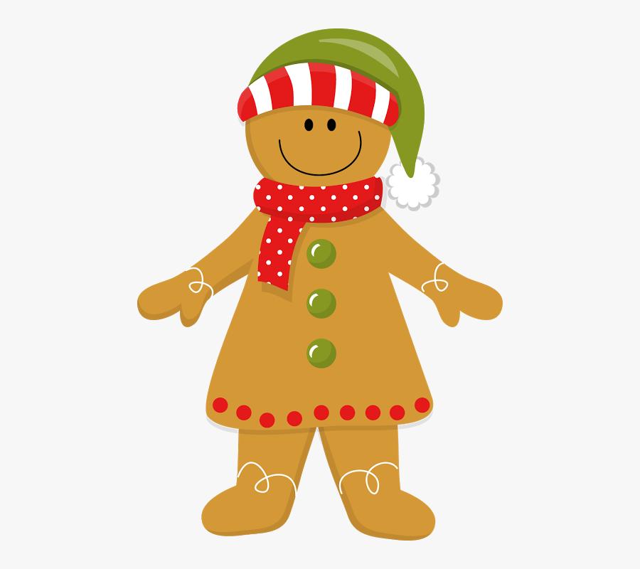 Christmas Gingerbread Girl - Christmas Ginger Bread Clip Art, Transparent Clipart