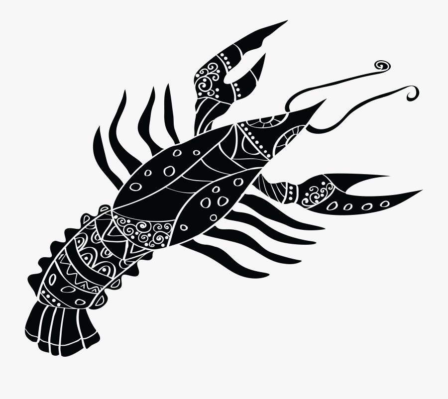 Free Clipart Of A Horoscope Astrology Zodiac Cancer - Lobster Horoscope, Transparent Clipart