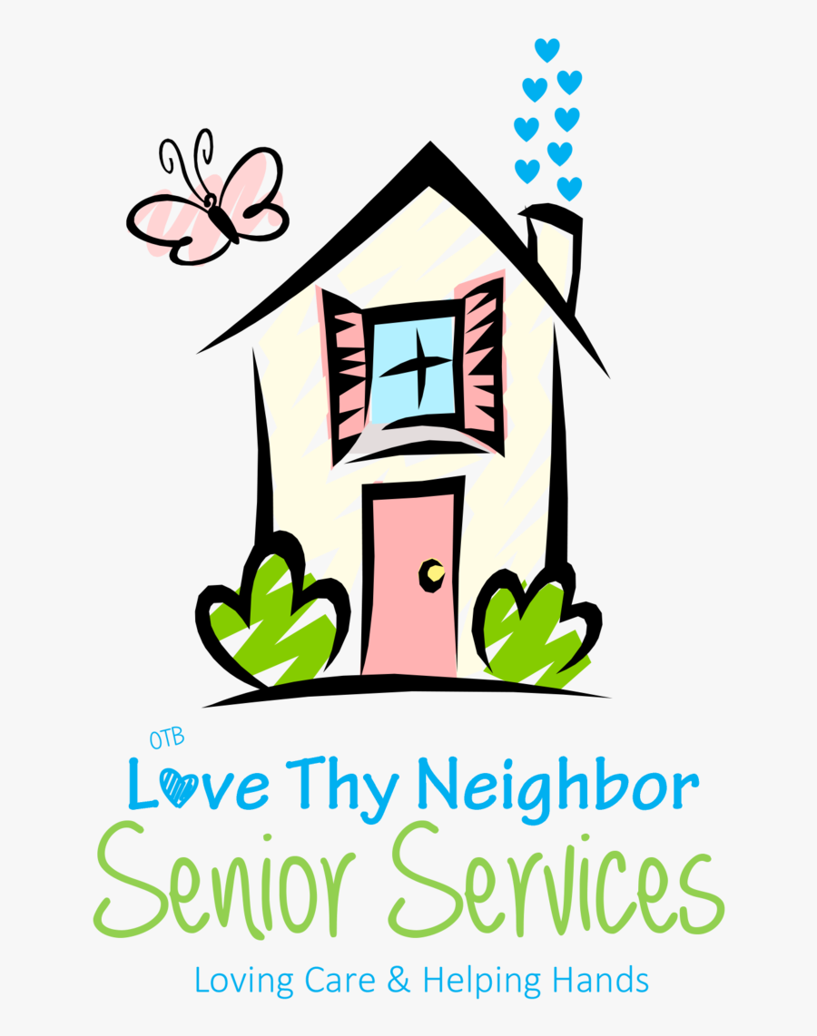 Loving Care & Helping Hands - House Clipart Gif, Transparent Clipart