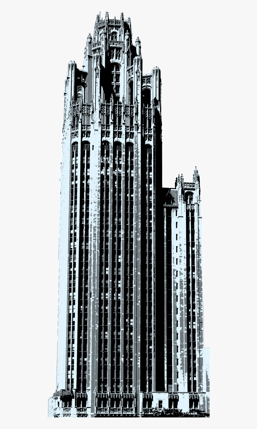 Broken Building Png Clipart Royalty Free Download - Chicago Tribune Tower Png, Transparent Clipart