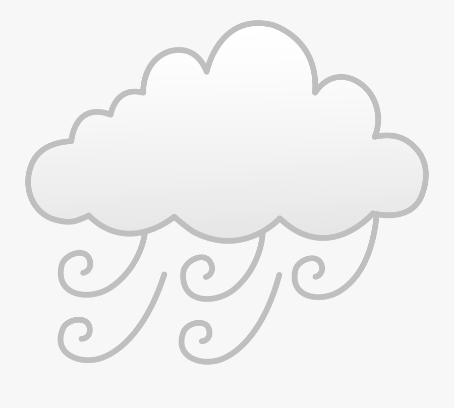 Windy Weather Clipart - Windy Weather Symbol Clipart, Transparent Clipart
